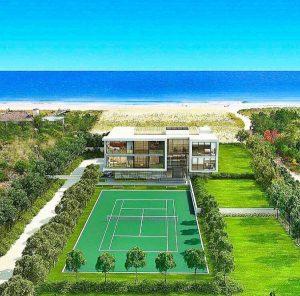 Beach house tennis court 1400 Meadow Lane Bridgehampton NY