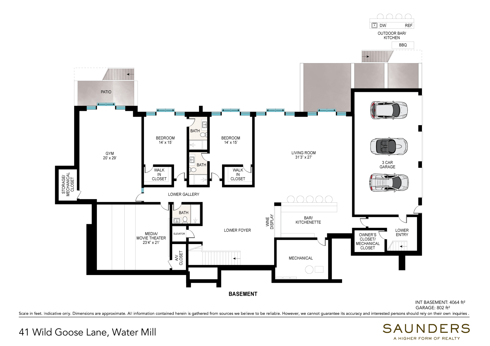 41 Wild Goose Lane Basement (floor plan)